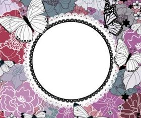 Butterfly flower background vectors material