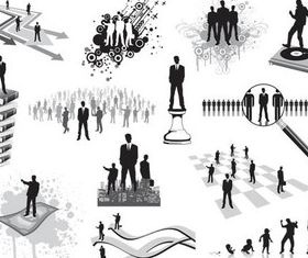 Business People Templates creative vector