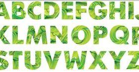 Green Creative Alphabet vector graphic