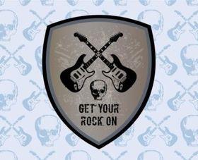 Rock Graphics set vector