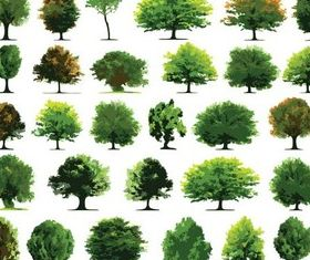Green Trees free creative vector