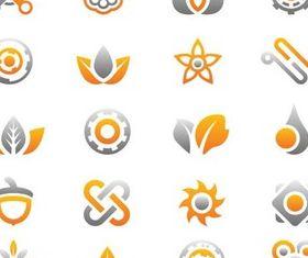 Grey Vivid Logotypes vector