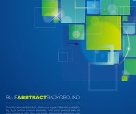 Abstract blue square background vector graphics