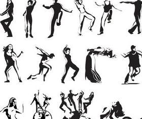 Modern Dancers vectors graphics