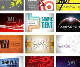 Cards Vivid Templates vector