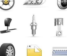 Modern Auto Parts vector design