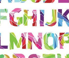 Broken Glass Alphabet vector graphic
