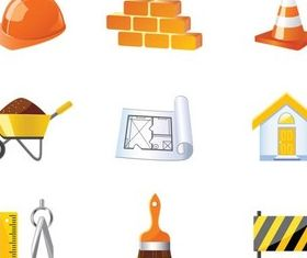 Building Things Icons shiny vector