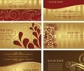 Gold Vivid Cards vector