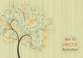 Trees background 4 Illustration vector