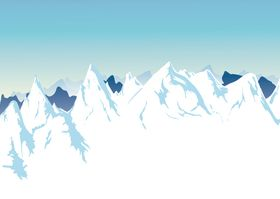 Snow Mountain background design vectors