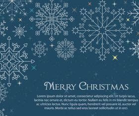 Snowflake christmas background 1 design vector