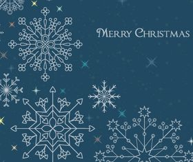 Snowflake christmas background 2 design vector