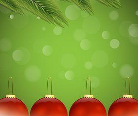 Christmas Balls Background set vector design