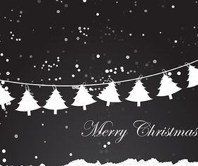 Christmas Winter Background vectors graphics