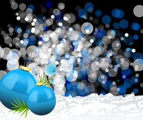 Christmas Balls Background graphic vector