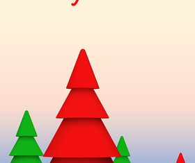 Xmas Trees Background vector
