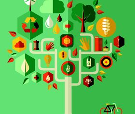 Infographics and tree 2 vectors