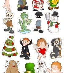Cartoon Characters 1 vector