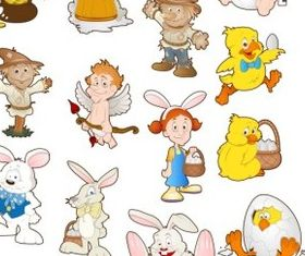 Cartoon Characters 2 vector