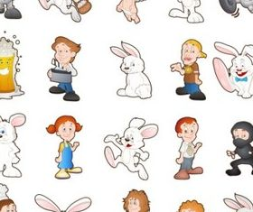 Cartoon Characters 3 vector
