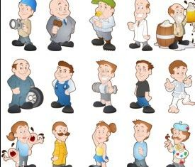 Cartoon Characters 4 vectors
