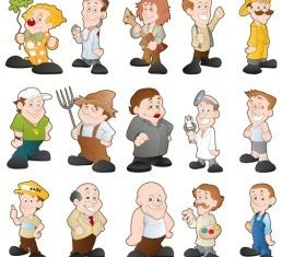 Cartoon Characters 5 vectors