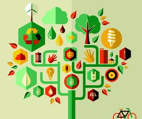 Infographics and tree 1 vector