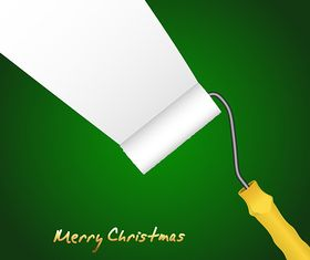 Paint Roller Christmas Background vector graphics