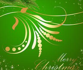 Flourish Christmas Background vector
