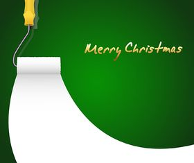 Painting Christmas Background vector graphics