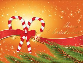 Candy Cane Christmas Background vectors