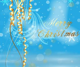 Golden Ornament Christmas Background creative vector