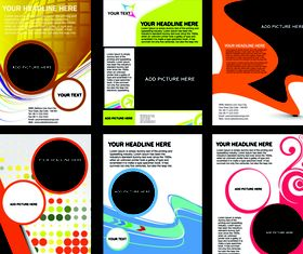 Abstract brochure cover vector
