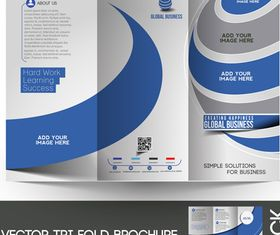 Tri Fold brochure cover 1 vector graphic
