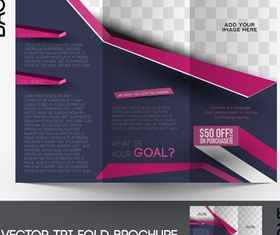 Tri Fold brochure cover 2 vector graphic