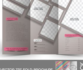Tri Fold brochure cover 3 vector graphic