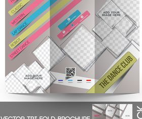 Tri Fold brochure cover 4 vector graphic