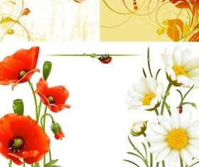 Bright flowers illustration creative vector