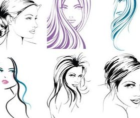 Beautiful Girls free vector graphics