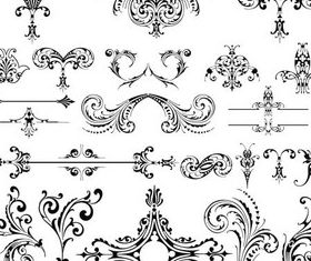 Retro Style Ornaments set vector