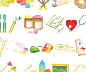 Medicine Vivid Icons vector