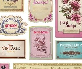 Colorful Vintage Labels art shiny vector