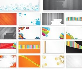 Cards Vivid Backgrounds vector set