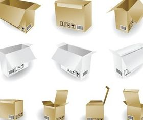 Packing Boxes vector