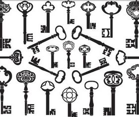 Different Lock Keys vectors graphics