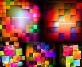 Neon plaid background vector
