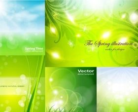 Spring dream bokeh background Illustration vector