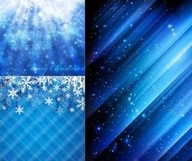 Blue snowflake background vectors graphic