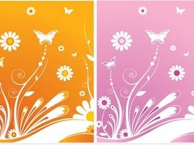 Color Spring Templates vectors graphic